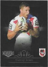 2018 NRL Elite Silver Special Parallel (SS128) Tariq SIMS Dragons
