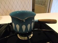 VTG MCM CATHERINEHOLM LOTUS SAUCE WARMER PAN/POT WITH SPOUT-BLUE-HTF