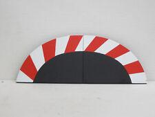 1 Paar Randstreifen, Endstücke rot/weiß, jeweils 14 cm lang, Carrera, 1:24