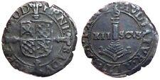 PRINCIPAUTÉ DE LIÈGE - Ernest de Bavière [1581-1612] - ½ liard, pièce de 12 Sols