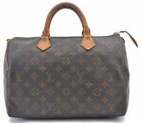 Authentic Louis Vuitton Monogram Speedy 30 Hand Bag M41526 LV B3439