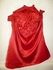 Women's Grass Collection red ruffle halter top blouse New with tag size Medium