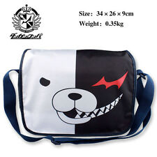 Anime Danganronpa monokuma zip shoulder bag Nylon messenger bag Cartoon SlingBag