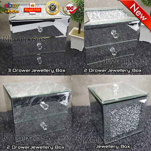 New Crushed Crystal/Marble Glitter Drawer Jewellery Box
