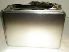 Silver Industrial SnackBox With Black Handle 8x3x6