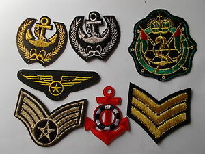 Anchor Sailor Navy Military,Nautical Motif Iron-on Embroidered Cloth Patch Badge