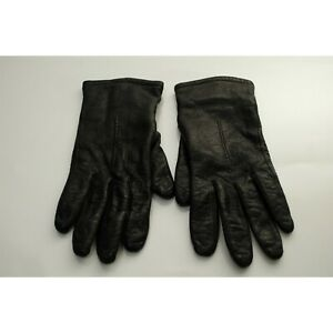 Vintage Fownes Leather Women's Gloves SIZE 7.5 Black 100% Leather