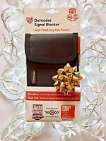 DEFENDER SIGNAL BLOCKER POUCH for Car Key Fob, Mobile Phone, Smart Cards - Black