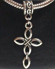 CROSS_Bead For European Chain Charm Bracelet_Christian Catholic God Jesus Silver