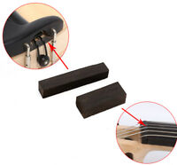 2set (4pcs) Violin Nut Violin Saddle Ebony Wood 4/4 Violin parts Accessories