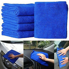 10PcsAbsorbent Microfiber Towel Car Home Kitchen Washing Clean Wash Cloth BlueLM