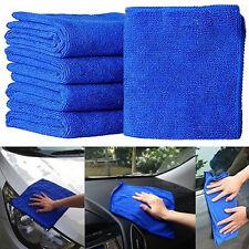 10Pcs Absorbent Microfiber Towel Car Home Kitchen Washing Clean Wash Cloth Blue