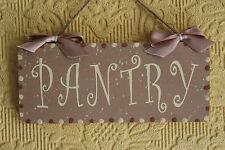 Lovely Decorative Handcrafted Brown/Cream Door Sign PANTRY