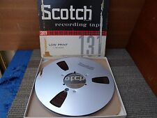 "Scotch Aluminum 10.5"" 1/4"" take up reel with recording good condition."