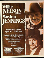 WILLIE NELSON & WAYLON JENNINGS 1999 HAWAII -  ORIGINAL  SCARCE