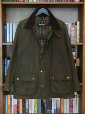 £199 MENS BARBOUR ASHBY OLIVE GREEN WAXED JACKET SIZE XL L