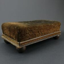 Antique Wood Foot Stool 1920's Primitive Country Hand Crafted Farm Decor