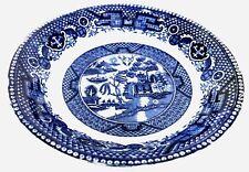 Vintage Societe Ceramique Maestricht Blue Willow Fruit/Berry Bowl Holland
