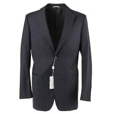 ARMANI COLLEZIONI Modern-Fit Charcoal Gray Stripe Wool Suit 40 R NWT $1950