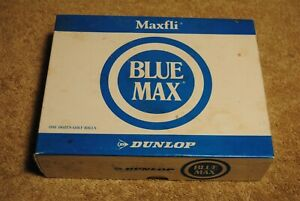 12 Vintage NOS Golf Balls Maxfli Blue Max Dunlop With Sleeves and Box