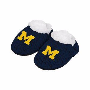 Michigan Wolverines Poly Strick Kleinkinder Neugeborenes Baby Schuhe Hausschuhe