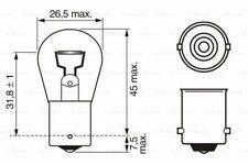 BOSCH Glühlampe Bremsleuchte vorne für  VW FORD RENAULT 544784