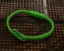 Pulsera De Cremallera Zip-Verde