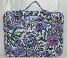 VERA BRADLEY Iconic Laptop Organizer Padded Sleeve Lavender Meadow - Purple NEW