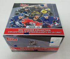 2020-21 TOPPS HOCKEY NHL STICKER COLLECTION Complete New Sealed BOX 50 Packs