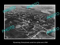 OLD LARGE HISTORIC PHOTO OF WYOMISSING PENNSYLVANIA, AERIAL VIEW OF TOWN c1940