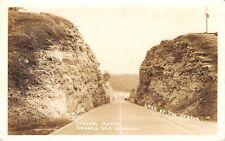 Lake Ozark MO Highway Cut on Route 54~Road to Bagnell Dam~RPPC Camdenton Cancel