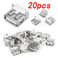 20 PCS USB Type-A Female PCB Mount Socket Plug Connector Right Angle 4 Pin Hot
