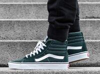 Vans Sk8-HI SKATE Shoes Men's Size 8 SCARAB / WHITE