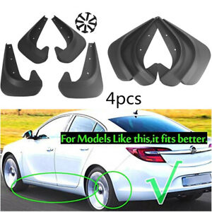 4PCS EVA Plastic Car Front+Rear Fender Mud Flaps Mudguards Splash Guards Black