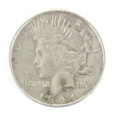 1924 - $1 Peace Silver Dollar - Tested for Silver - One Dollar - Silver Coin