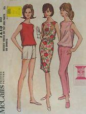 Amazing VTG 64 McCALLS 7219 MS Dress or Top & Pants or Shorts PATTERN 18/38B