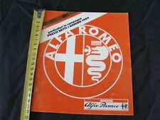 LISTINO PREZZI ALFA ROMEO ACCESSORI ORIGINALI 1 GIUGNO 1989 OLD ITALY