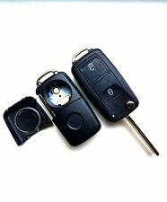 VW Caravelle Transporter 2 Button Flip Remote Key Fob Case (Blank HAA Blade)