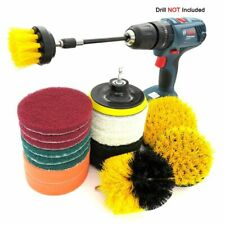 Drill Brush Power Cleaning Scrub Pad Attachment Kit Wall Carpet Scrubber Cleaner