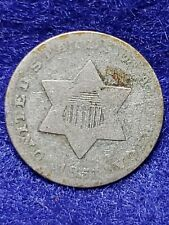 1851 Three Cent Silver VERY GOOD -  L@@K NICE COIN