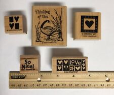 Stampin' Up 5 Rubber Stamp Set Scrapbooking Art Projects Stocking Stuffer!