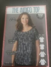 The Indigo Top Simply Sewing Pattern, Sizes 6-20 Uncut