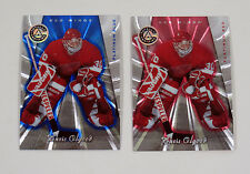 Lot of (2) 1997-98 Pinnacle Totally Certified Chris Osgood Platinum Blue & Red