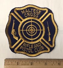 Maltese Cross Rifle and Pistol Club Shooting Gun Club Patch