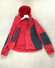 Men's FJALLRAVEN G-1000 Jacket Coat SZ XXS - XS Red Hooded Anorak Waxed Logo