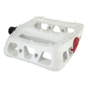 """ODYSSEY TWISTED PC PLATFORM WHITE 9/16"""" BICYCLE PEDALS"""