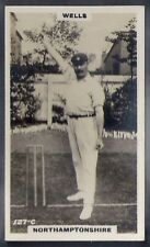 PHILLIPS-CRICKET ERS BROWN BACK F192-#127c- NORTHAMPTONSHIRE - WELLS