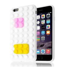 Étuis, housses et coques blancs en silicone, caoutchouc, gel pour téléphone mobile et assistant personnel (PDA), pas de offre groupée