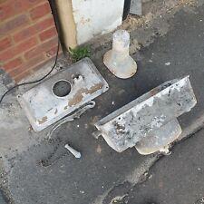 vintage cast metal cistern