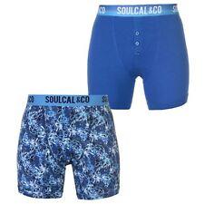 SoulCal Hombre Pack De 2 Calzoncillos Bóxers